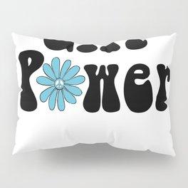 Girl Power Hippie Flower Peace Sign Pillow Sham