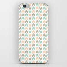 Pattern: Olive + Peach Arrows iPhone & iPod Skin