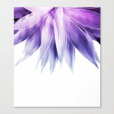 Agave geo fringe - amethyst Canvas Print