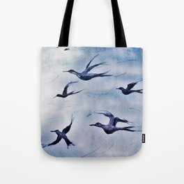 Volando para encontrarte Tote Bag