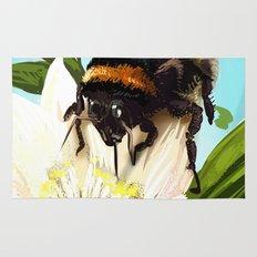 Bee on flower 5 Rug