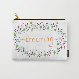 Golden dreams in wild flowers Carry-All Pouch