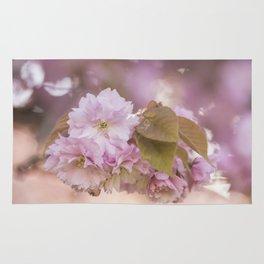 Cherry Blossom LOVE - Sakura - Pink Flower Flowers Rug