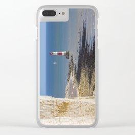 Beachy Head Lighthouse Clear iPhone Case
