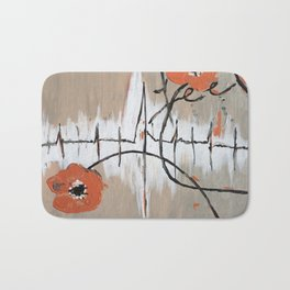 Abstract Feel art, floral abstract Bath Mat