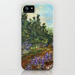 Mountain Wildflowers, Impressionism Landscape Painting iPhone Case