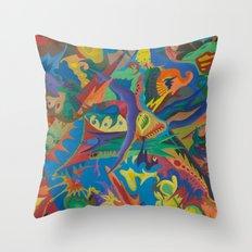 Crazy Dreams of Colour  Throw Pillow
