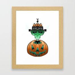 Halloween Horror Punk Zombie Framed Art Print