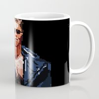 terminator Mugs featuring Terminator Pixelated by Escobarr