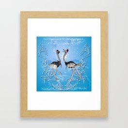 Dancing for christmas Framed Art Print