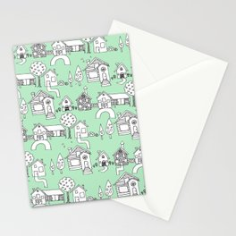 Happy Village Stationery Cards