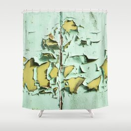 Blistered Paint Shower Curtain