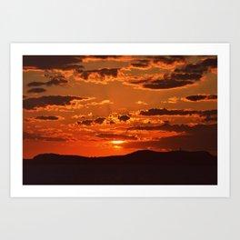 Ibiza Sunset Art Print