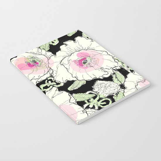 poppies creme Notebook