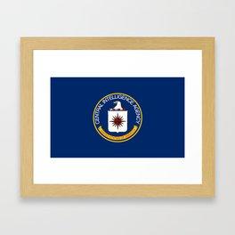 CIA Flag Framed Art Print