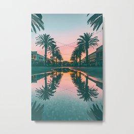 Palm Reflection | Hermosa Beach California Metal Print