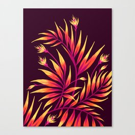 Waikiki Palm - Orange Canvas Print