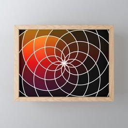 Dark Kaleidoscope Framed Mini Art Print