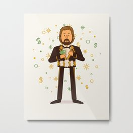 Million Dollar Man (Pro Wrestling Illustration) Metal Print