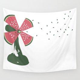 watermelon fan Wall Tapestry