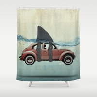 vw Shower Curtains featuring VW soup by Vin Zzep