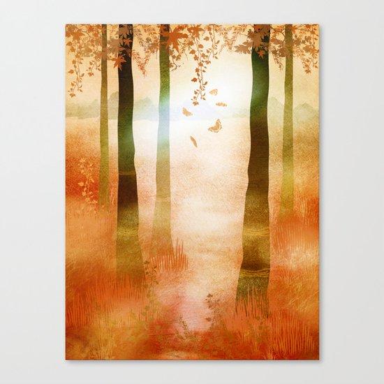 sunrise in autumn Canvas Print
