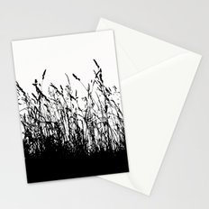 grass bw Stationery Cards