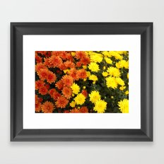 red-yellow mood Framed Art Print