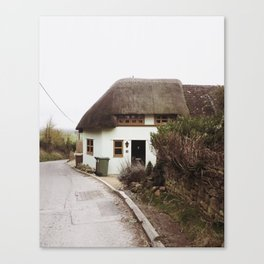 Thatched Cottage in the English Countryside Canvas Print