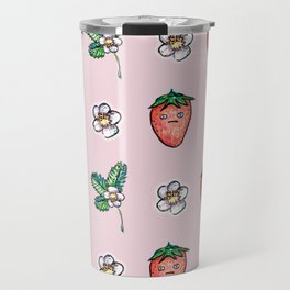 Grumpy Strawberry Travel Mug