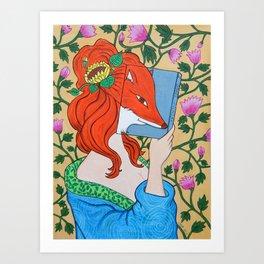 La zorra, dios de los escritores Art Print