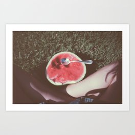 Watermelon legs Art Print
