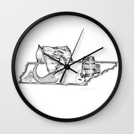 Tennessee Mermaids Wall Clock