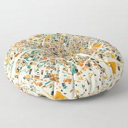 London Mosaic Map #4 Floor Pillow