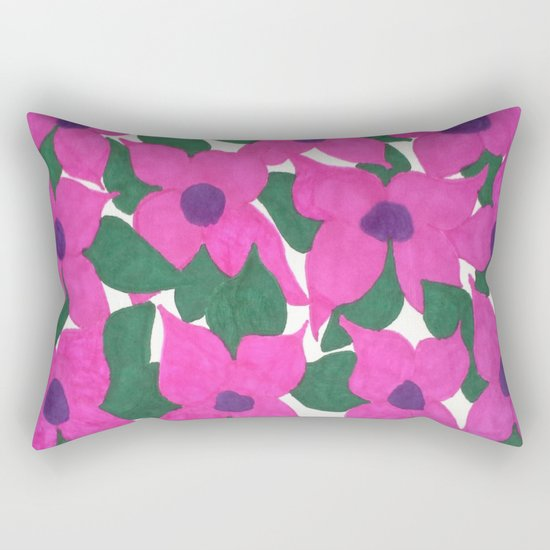 Spring Classic Pink Flowers Rectangular Pillow