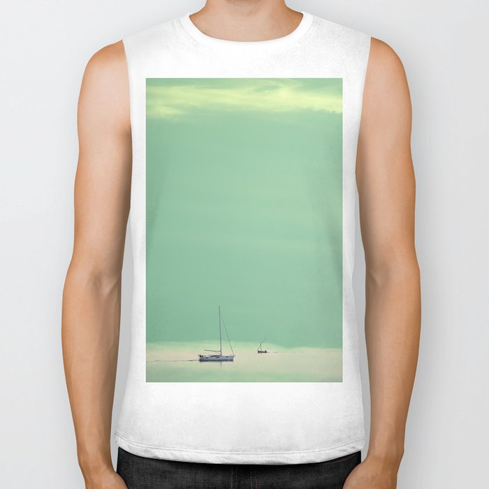 Smell the sea and feel the sky Biker Tank