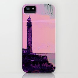 Golden Hours / Lighthouse Barlovento La Palma iPhone Case