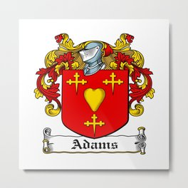 Family Crest - Adams - Coat of Arms Metal Print