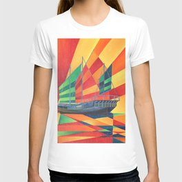 Sail Away Junk Pleasure Boat T-shirt