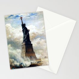 Statue of Liberty Unveiled by Edward Moran Stationery Cards