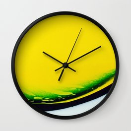 Green Smile Wall Clock