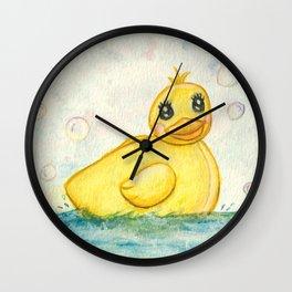 Bath Time Ducky - Watercolor Wall Clock
