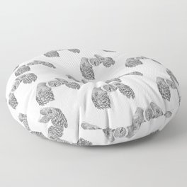 Flying Great Grey Owl pattern Floor Pillow