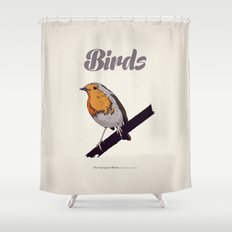 BIRDS 02 Shower Curtain