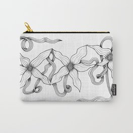 Huia Art Clematis Ribbon Carry-All Pouch