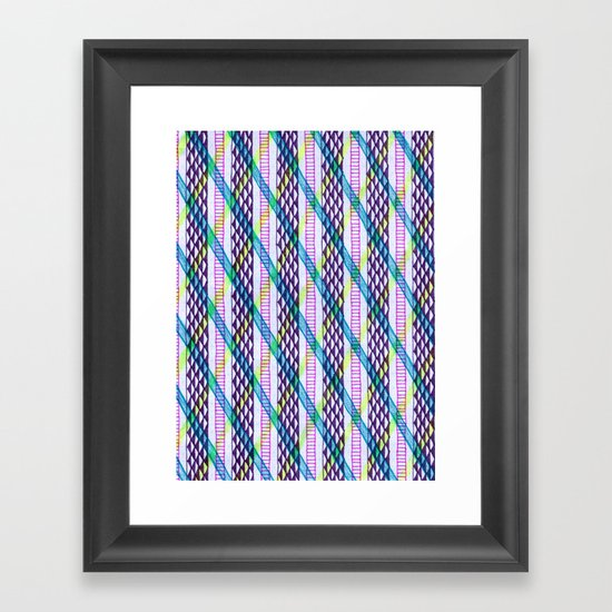 Isometric Harlequin #2 Framed Art Print