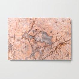 Pink Marbled Quartz Metal Print