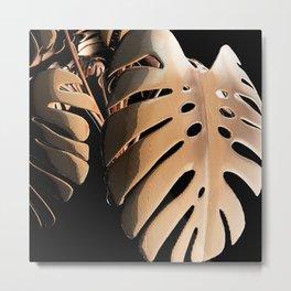 Copper Monsteria Metal Print