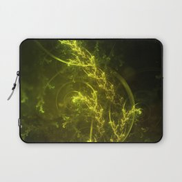 Magical Fractal Fairy Ferns in an Emerald Forest Laptop Sleeve
