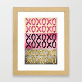 Glamorous XO's  Framed Art Print